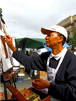 the Portrait Painter Vallejo Saturday's Farmer's Marke